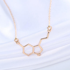 Serotonine (gelukshormoon) Molecuul Ketting - Science Factory