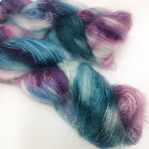 Lilac Breeze - brushed mohair and silk laceweight