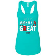 Load image into Gallery viewer, Teal Trump - Keep America Great Tank Top