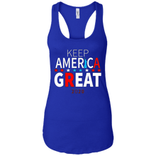 Load image into Gallery viewer, Royal Blue Trump - Keep America Great Tank Top