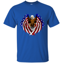 Load image into Gallery viewer, Royal American Flag Eagle Wings T-shirt