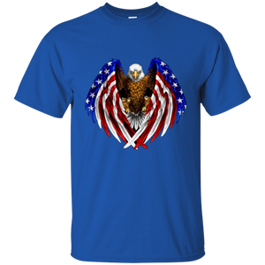 Royal American Flag Eagle Wings T-shirt