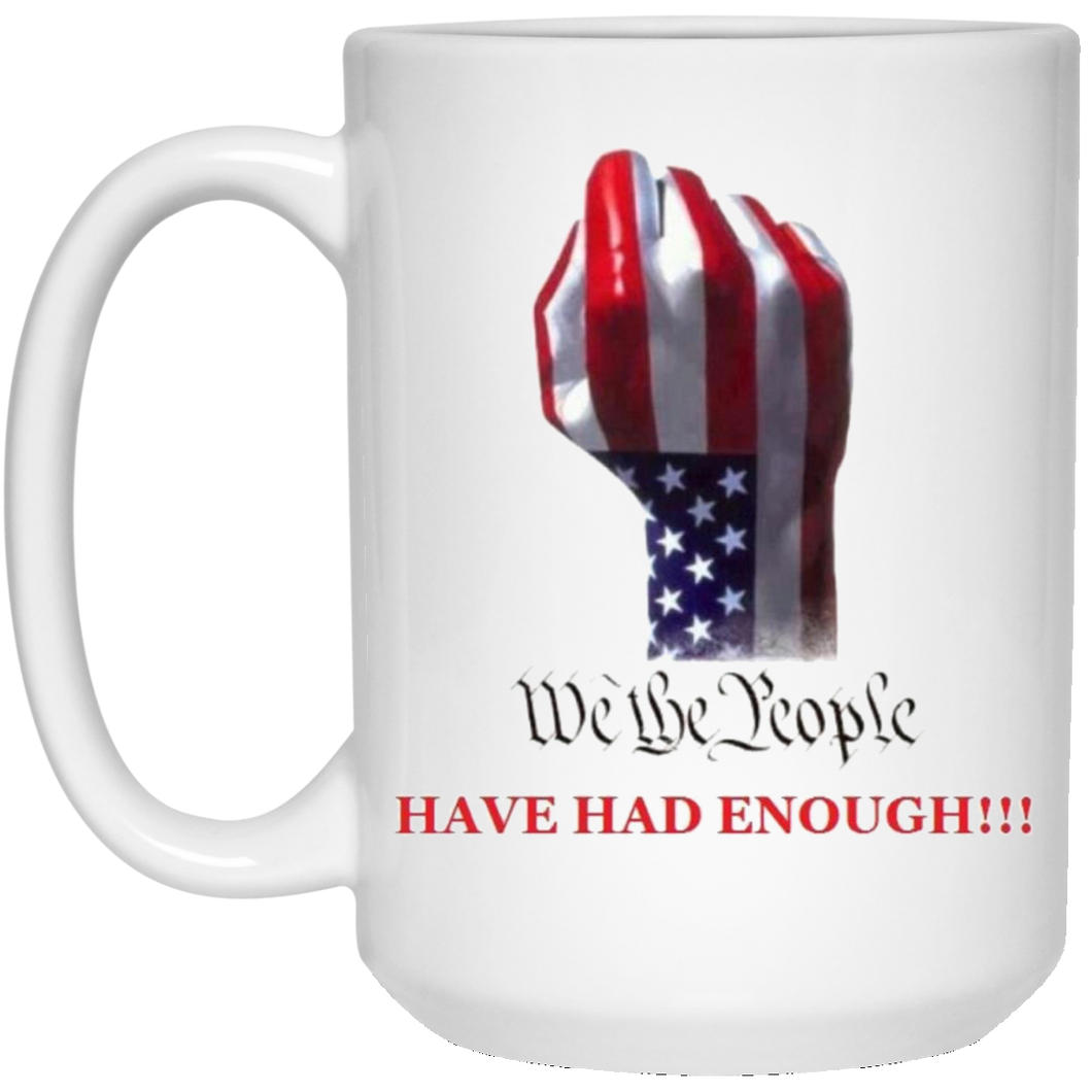 White We The People Ceramic Mug