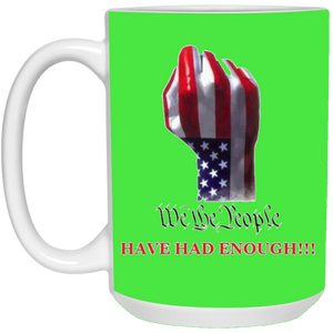 Green We The People Ceramic Mug