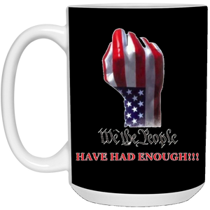 Black We The People Ceramic Mug