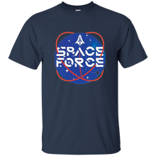 Load image into Gallery viewer, Navy Blue Trump Space Force T-shirt