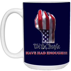Navy Blue We The People Ceramic Mug