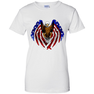 White American Flag Eagle Wings T-shirt
