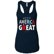 Load image into Gallery viewer, Trump - Keep America Great 2020 Statue Of Liberty Women's Racerback Tank