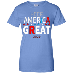 Light Blue Trump - Keep America Great T-shirt