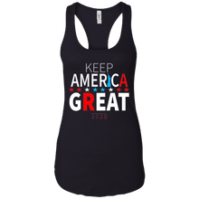 Load image into Gallery viewer, Navy Blue Trump - Keep America Great Tank Top