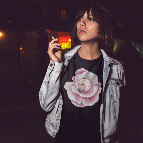 Short-Sleeve Unisex T-Shirt with HER2 Flower Print