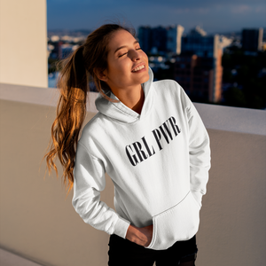 GRL PWR HOODIED SWEATSHIRT WHITE WOMAN