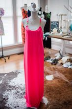 Load image into Gallery viewer, Julie Brown Long Hot Pink Dress