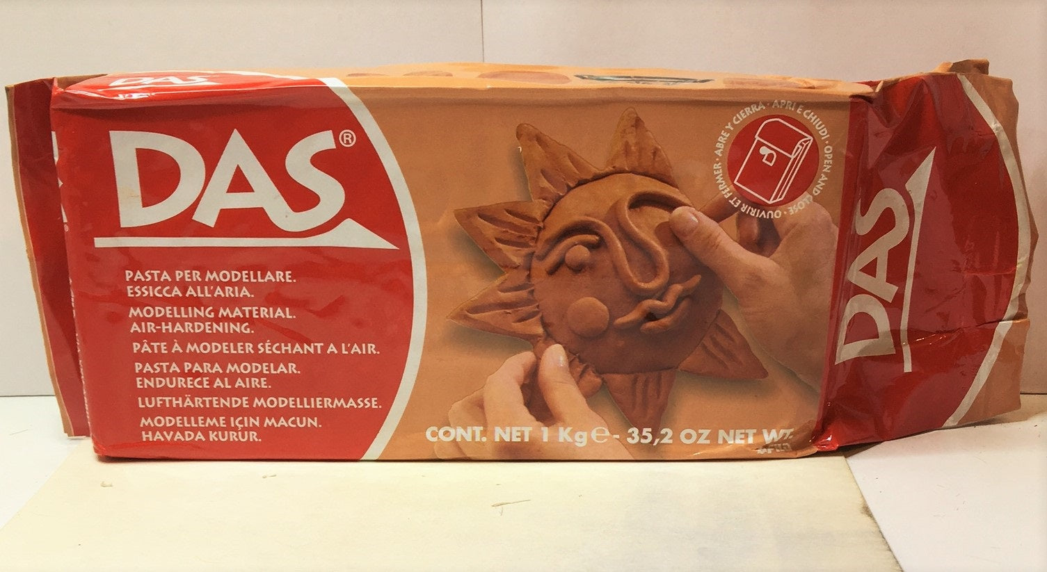 DAS AIR DRYING MODELLING CRAFT CLAY -TERRACOTTA - 1kg