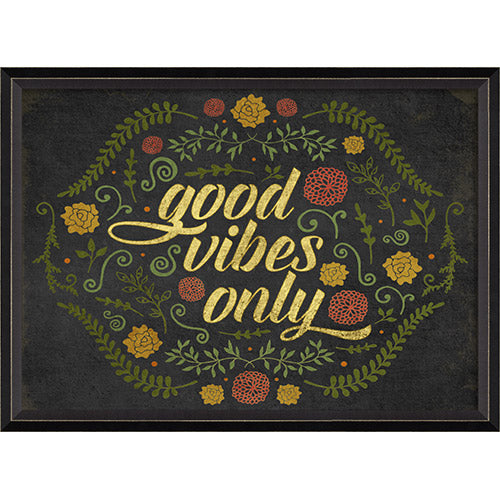 Good Vibes Only Framed Print