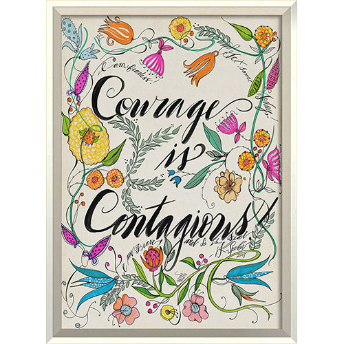 Courage is Contagious Framed Print