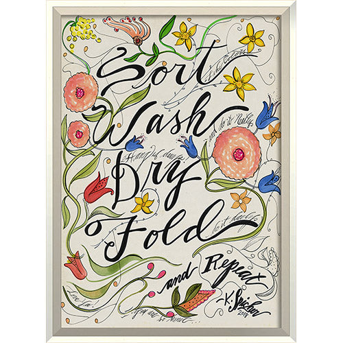Sort Wash Dry Fold Framed Print