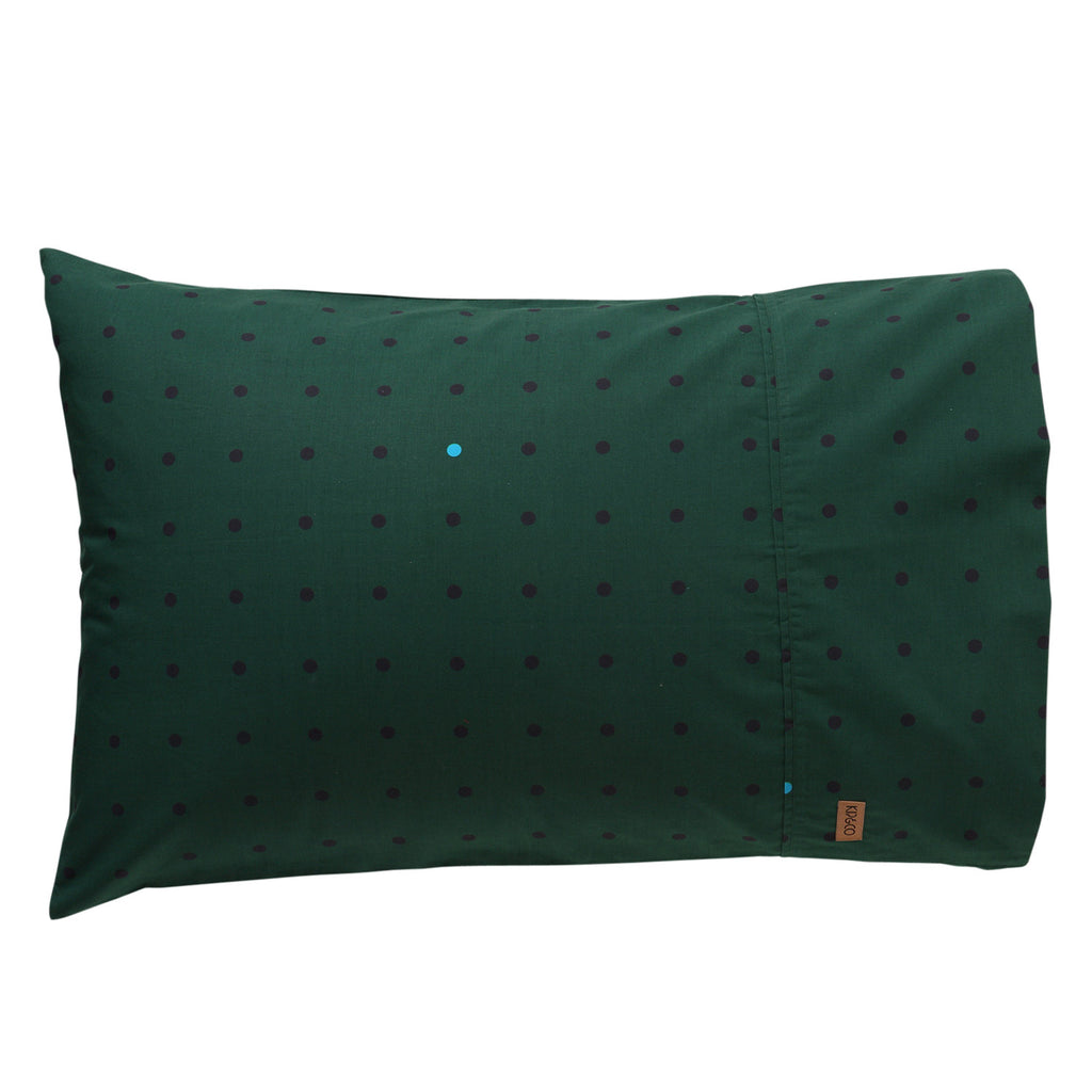 Kip & Co Dots Green Pillowcase Set of 2