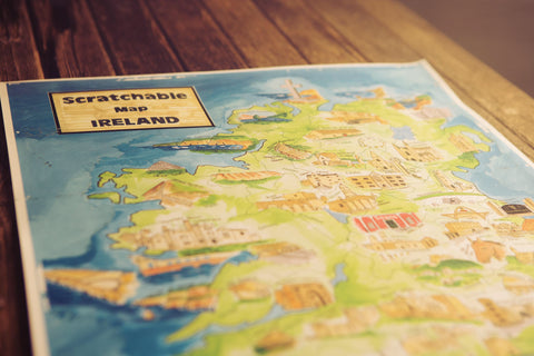 Scratchable Map Ireland