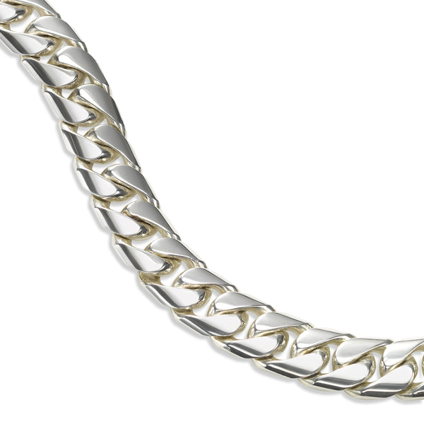 Cuban Link Flexible Bracelet, 8 Inches, Sterling Silver