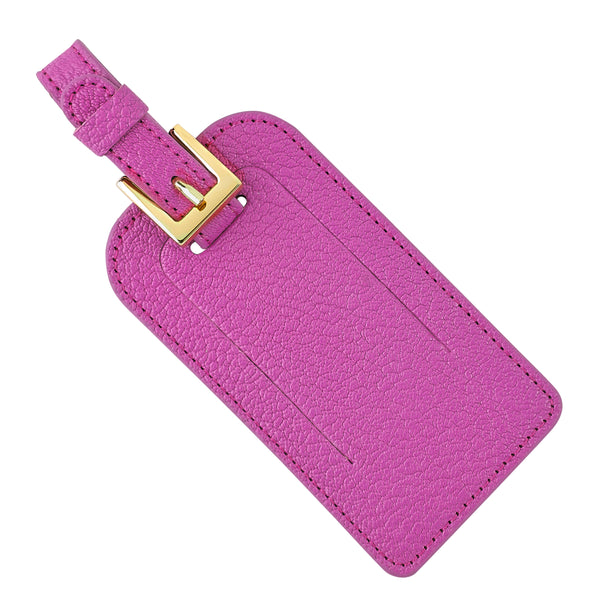 Luggage Tag, Pink Leather