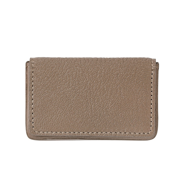 Hard Cover Business Card Case, Taupe Leather