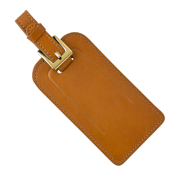 Luggage Tag, Brown Leather