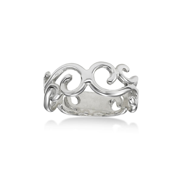 Open Scrollwork Ring, Sterling Silver