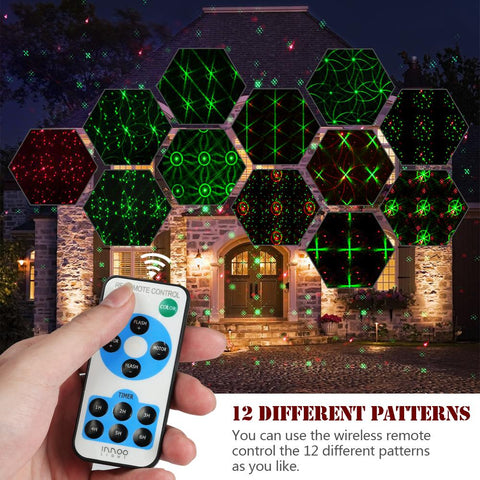 Image of Christmas LED Waterproof Projector 12 in 1 Pattern