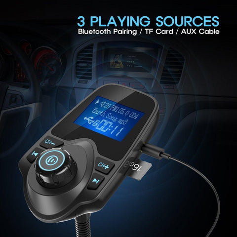 Wireless In-Car Bluetooth FM Transmitter Radio Adapter