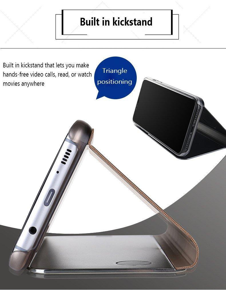 Clear Touch Flip Stand Case for iPhone