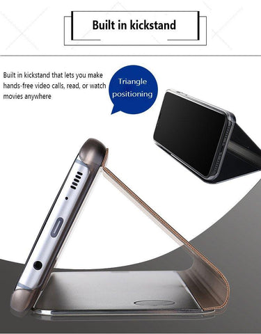 Image of Clear Touch Flip Stand Case for iPhone