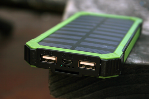 Image of Waterproof Solar Charger Power Bank