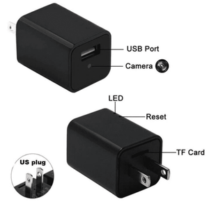 HD 1080P Stealth Camera USB Wall Charger