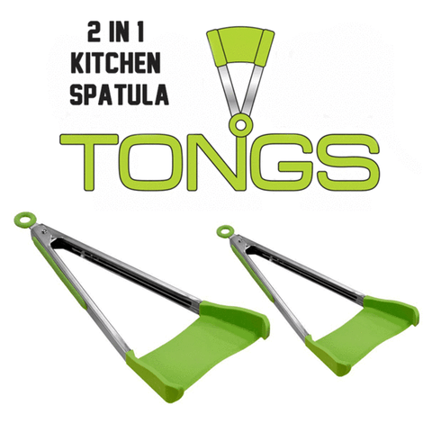 2 in 1 Kitchen Spatula & Tong