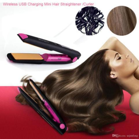 2 in 1 Cordless Curling Iron and Hair Straightener
