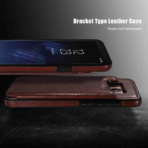 Image of 4 in 1 Luxury Leather Case For Samsung Phones