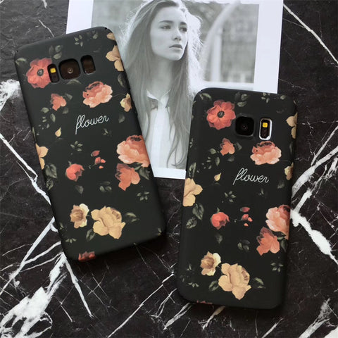 Image of Retro Red Rose Flower Floral Cases For Samsung Galaxy & iPhone