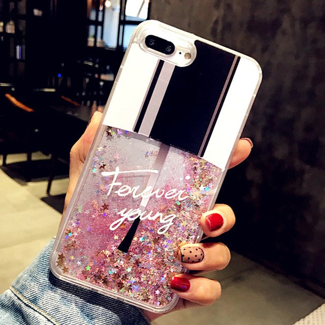 Liquid Glitter Cat Perfume Bottle Quicksand Dynamic Case for iPhone