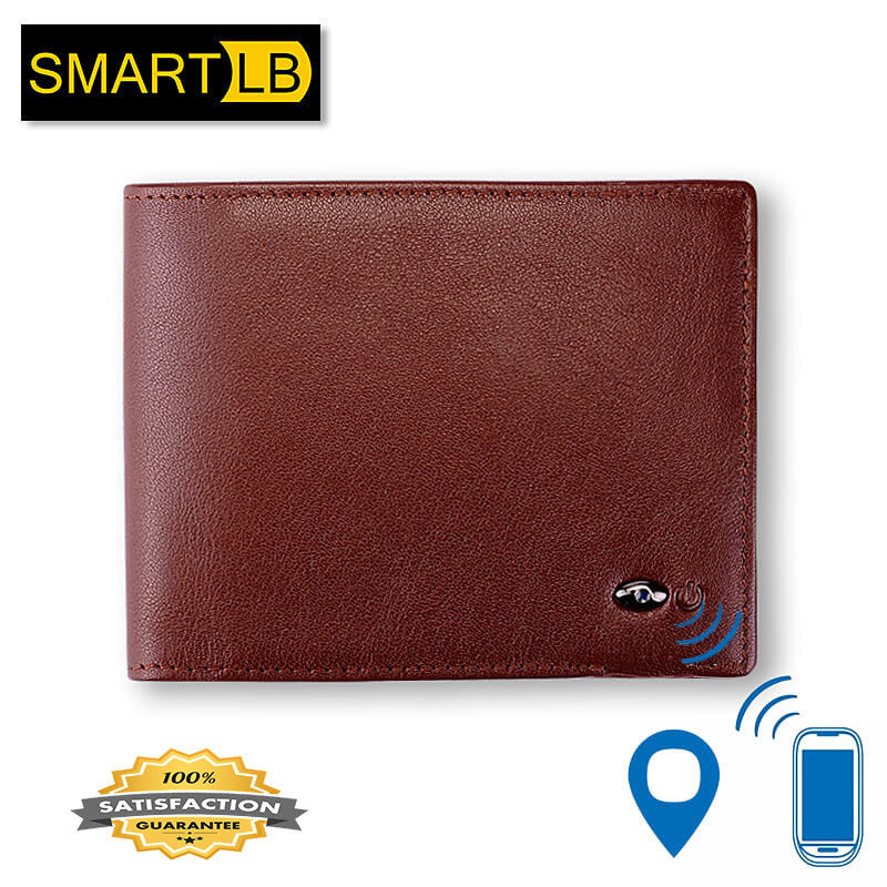 Leather Smart Wallet with Alarm Bluetooth and GPS