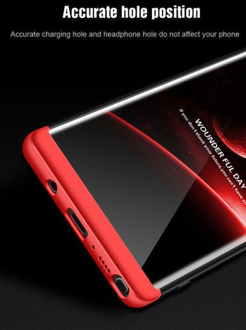 Image of Ultra Slim 360 Degree Protection Hard Case with Tempered glass Screen Protector for Samsung Galaxy