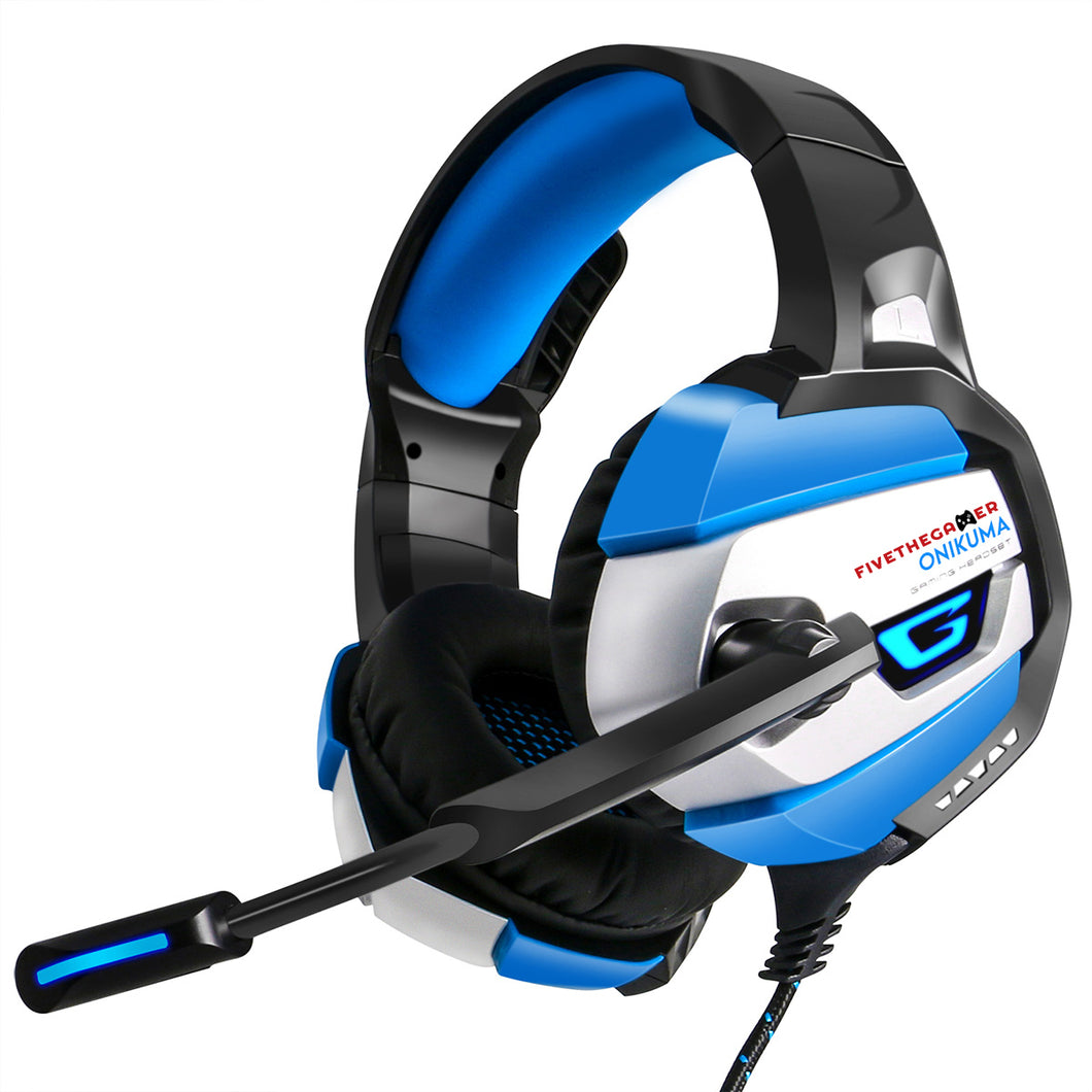 Onikuma K5 Gaming Headset in Blue for Xbox PS4 and PC