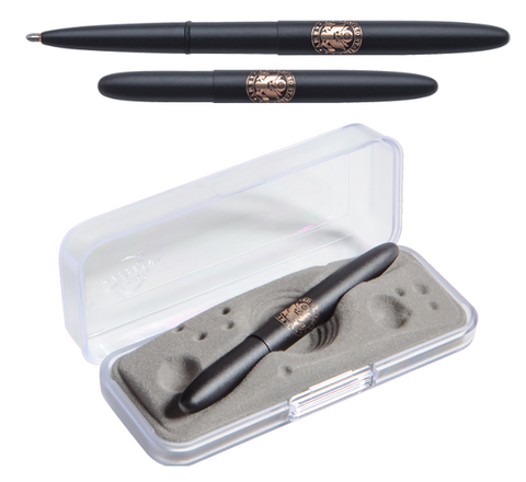 MATTE BLACK BULLET SPACE PEN WITH U.S. ARMY INSIGNIA