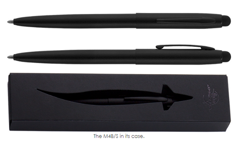 NON-REFLECTIVE MILITARY MATTE BLACK CAP-O-MATIC SPACE PEN WITH STYLUS