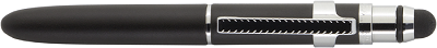 Black Bullet GripSpace Pen with Clip and Stylus