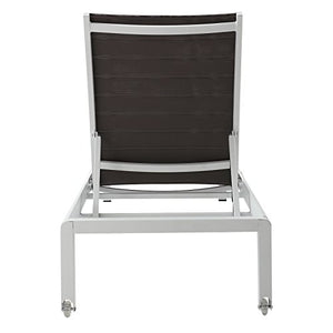 MEELANO M201 Outdoor Chaise Lounge, Grey/White