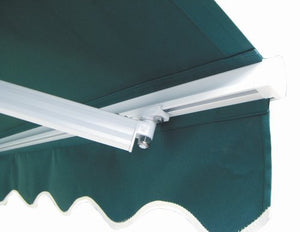 ALEKO AW13X10GREEN39 Retractable Patio Awning 13 x 10 Feet Green