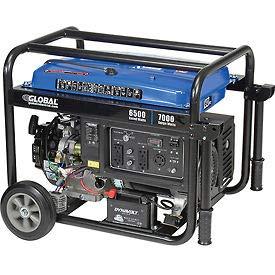 6500 Watts Portable Generator, Gasoline, Electric/Recoil Start, 120/240V, Lot of 1