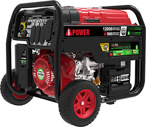 A-iPower SUA12000ED 12,000-Watt Dual Fuel Portable Generator Propane or Gas EPA/CARB, Electric Start + Instant Energy Switch